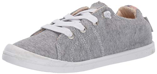 Roxy Women's Bayshore Slip on Shoe Sneaker, New Grey ash, 9 M US