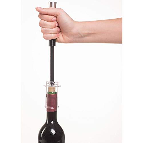 Genius Weinöffner (4Teile) Set bestehend aus Folienschneider, Weinöffner, Ausgießer und Flaschenverschluss | Erleichtert das Öffnen der Flasche und Einschenken von Wein