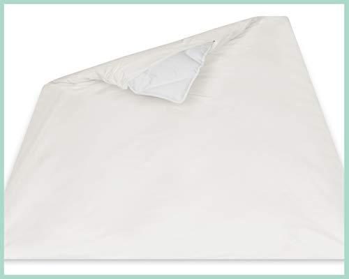 allsana Sensitive Care Allergiker Deckenbezug 200x200 cm, Allergie Bettwäsche Anti Milben Encasing Milbenschutz für Hausstaubmilbenallergie