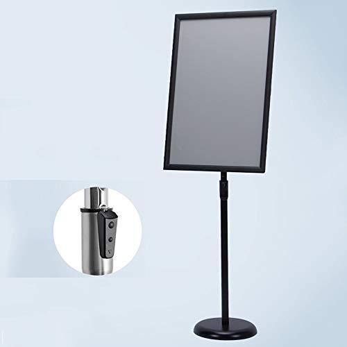 CHOU XIAO Schildhalter 16,5 X 23,4 Zoll Heavy Duty Pedestal Stand Hinweisschilder Perfekte Darstellung Ihrer Informationen (Color : Black, Size : Dark Buckle)