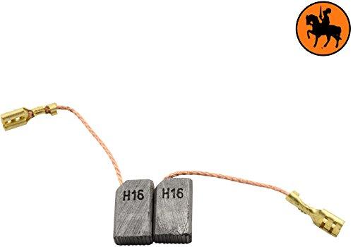 Buildalot Specialty Kohlebürsten ca-15-59621 für Fein WSS-125-5x10x17mm - Mit Automatischer Abschaltung, Kabel und Stecker - Ersatz für Originalteile 3.071.113.003