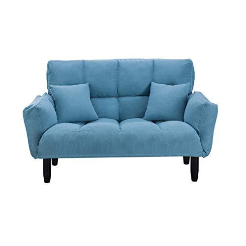 Z-Color Sofá Cama Ajustable Sofá de Dos plazas Asiento de Cine en casa con 2 Almohadas Capacidad máxima de Peso 440 Libras