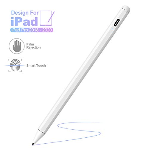Stylus for iPad,Homder 2nd Gen Active Stylus Compatible with Apple iPad (10.2-Inch) iPad Pro (11/12.9 Inch) iPad (6th Gen) Air (3rd Gen) Mini (5th Gen),High Precise Rechargeable Digital Pencil