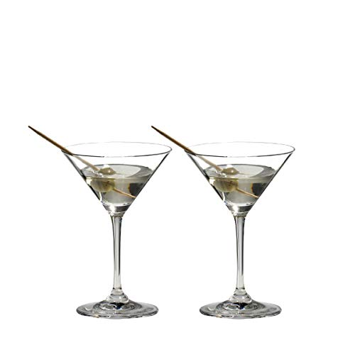 Riedel VINUM Martini Glasses, Set of 2 - 6416/77,Clear