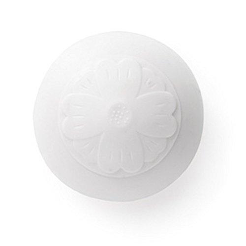 Starter 15 cm Bouchon de vidange en Silicone pour Lavabo de Cuisine en Silicone Blanc