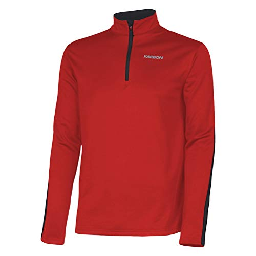 KARBON Chronus Fleece Mid-Layer Mens Red/Black