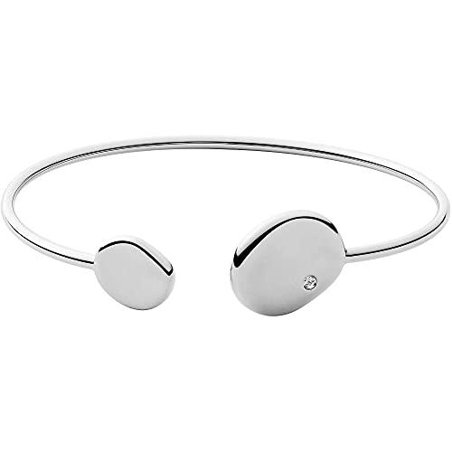 Skagen - Kariana Manschettenarmband Silberfarbener Edelstahl für Frauen SKJ1455040