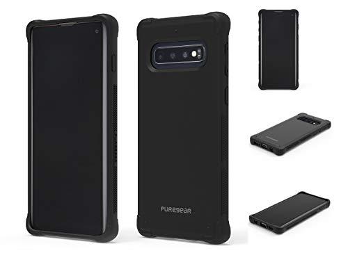 Puregear Dualtek Schutzhülle für Samsung Galaxy S10, robust, extrem stoß- & fallsicher, Mattle (schwarz)