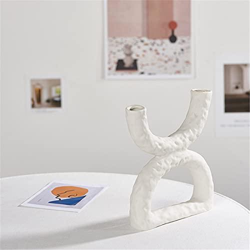 Florero De Cerámica De Estilo Nórdico Blanco, Decoración De Jarrón Abstracto, Utilizado para La Decoración De La Boda De La Oficina De La Cocina De La Sala De Estar O como Regalo