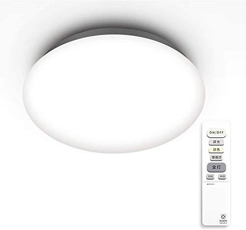 【Amazon Alexa認定】ウックス(Woox) LED シーリングライト 32W 6畳 3200lm リモコン付き 調光・調色タイプ
