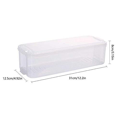 Gamloious Plastikaufbewahrungsbehälter Kühlschrank Aufbewahrungsbox Lebensmittel Lagerbehälter mit Deckel für Küche Kühlschrank Schrank Gefrierschrank Schreibtisch-Organisator