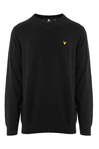 Luxury Fashion | Lyle & Scott Heren KN400VCBLACK Zwart Wol Truien | Herfst-winter 19