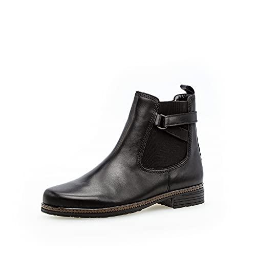 Gabor Damen Chelsea Boots, Frauen Stiefeletten,Wechselfußbett,Best Fitting,Ladies,Boots,Stiefel,Bootee,Booties,halbstiefel,schwarz,42.5 EU / 8.5 UK