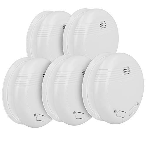 mumbi RMF150 Funkrauchmelder: 5 x Funk Rauchmelder / Feuermelder geprüft nach DIN EN 14604 - verlinkbar vernetzbar koppelbar