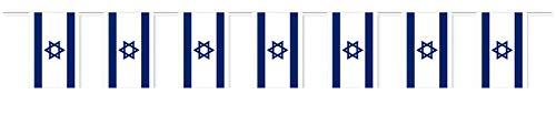Everflag Papierfahnen-Kette 5m : Israel
