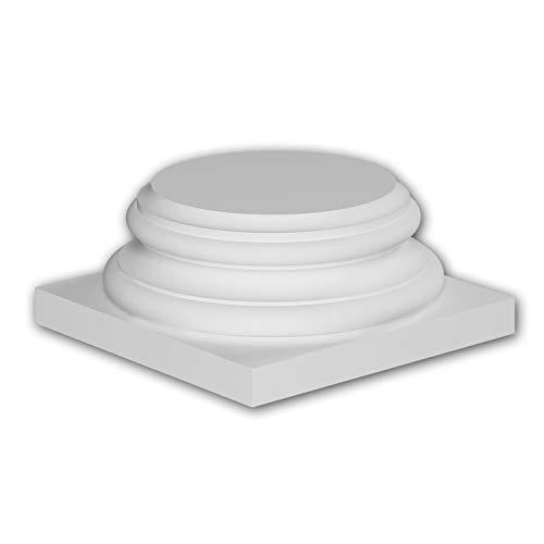 Zócalo de columna Profhome 413002 Moldura de fachada Columna Elemento de fachada estilo iónico blanco