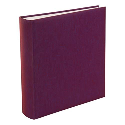 goldbuch 31807 Fotoalbum Summertime Trend, 30 x 31 cm, Fotobuch mit 100 weiße Seiten & Pergamin Trennblättern, Foto Album aus Leinen, Erinnerungsalbum, Brombeere