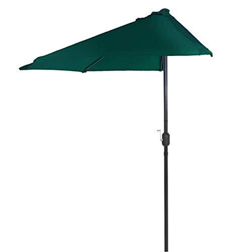 HH- Sombrillas Paraguas de Media Mesa de Jardín Al Aire Libre de 8.2 Pies / 250 cm con Manivela, Exteriores, Jardín, Patio, Playa, Camping, Piscina