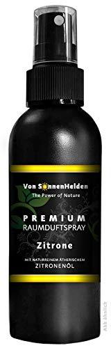 """Premium Raumduft Spray """"Zitrone"""" • Mit natürlichem ätherischen Zitronenöl - ohne Alkohol. Langanhaltend, Intensiv, Geruchsneutralisierend, Wohltuend, Entspannend, Erfrischend. (150 ml)"""
