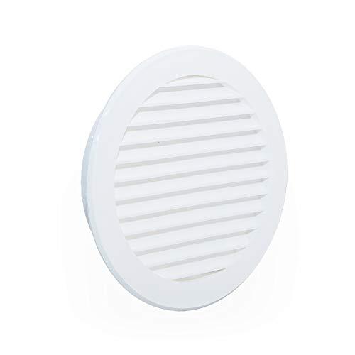 Rejilla de ventilación redonda de plástico y protección para desagües, Blanco Sistema de ventilación Ø125mm