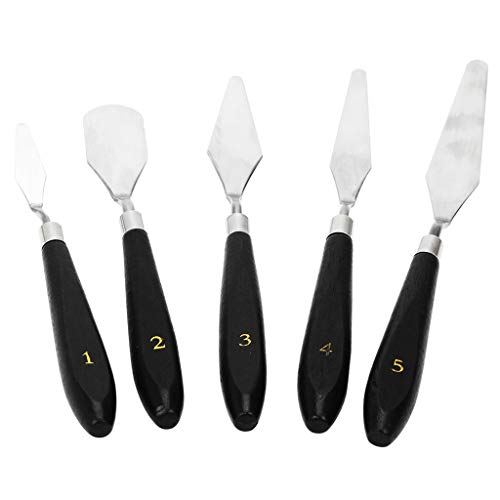 MagiDeal Removal Tools Kit for 3D Printer, 3D Print Spatula Palette Knife Painting Set of 5