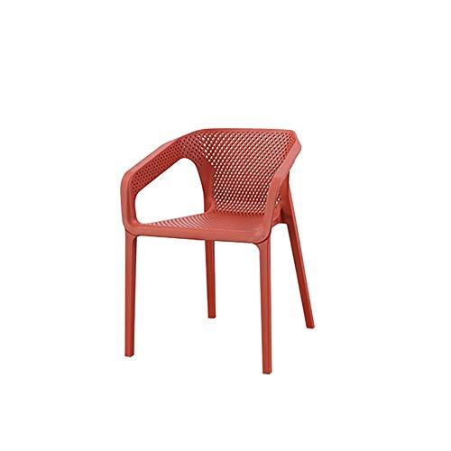 WJJ Silla de Sala Apilar sillas de Comedor Silla de Oficina Moderna for oficinas, formación, conferencias, Iglesias, centros comunitarios Aula Sillón Relax (Color : Red, Size : 4 pcs)