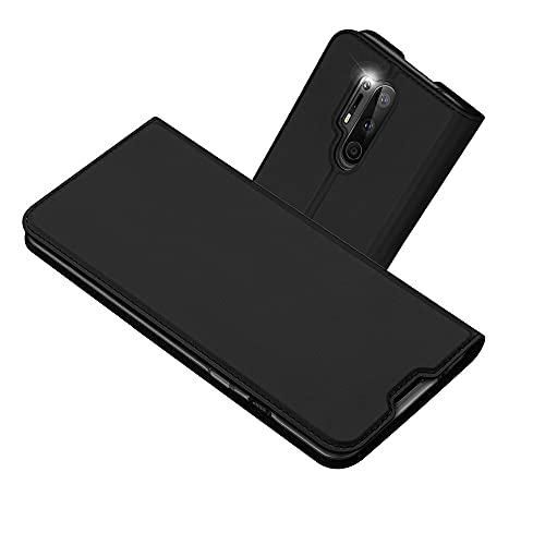 RADOO Kompatibel mit OnePlus 8 Pro Lederhülle, PU Leder Handyhülle Brieftasche-Stil Magnetisch Klapphülle Etui Brieftasche Hülle Schutzhülle Tasche für OnePlus 8 Pro (Schwarz Grau)