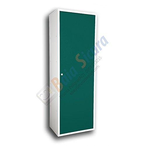 Baia Sicura Armadio 180 x 60 x 40 Tutto Ripiani Scarpiera Multiuso Porta Verde