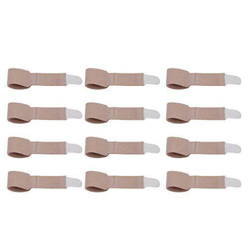 SUPVOX 12 Stücke Zehenbandage Kinder Zehenschutz Fingerschiene Zehenschiene Hammerzehen Zeh Schiene Bandage für Finger Hammer Toe Zehen Separator