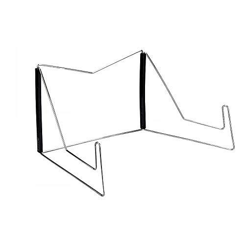 Kaptin Book Stands, Verstelbare Leesstandaard, Metalen Studie Standaard, Muziekboek Easel Display Houder, Kleine Boek Rust, Keuken Kookboek Stands (Zwart)