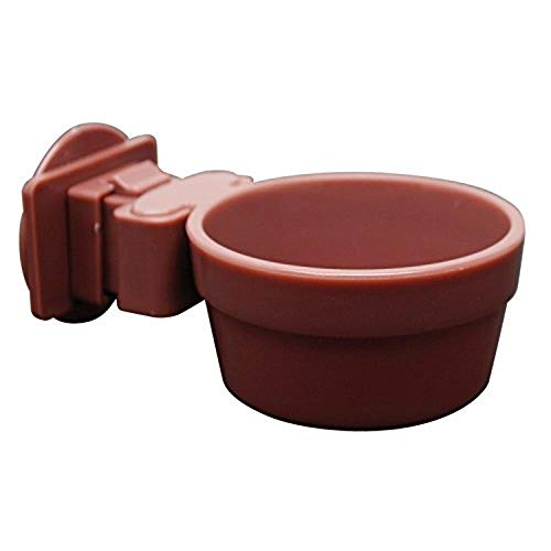 Living World Lock and Crock Dish, Food and Water Dish for Small Animals, 6 Oz., 61786