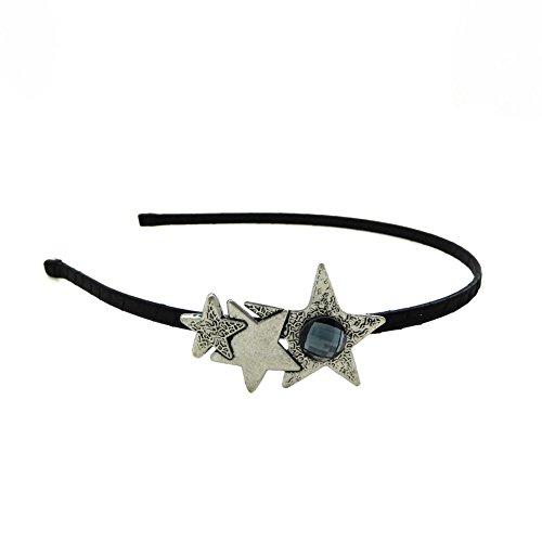 rougecaramel - Accessoires cheveux - Serre tête motif étoile en métal et strass base argenté - strass bleu