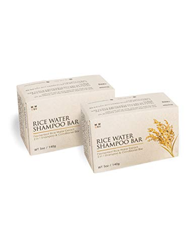 Rice Water Hair Growth Shampoo Bar Set - 2 Set of all in one...