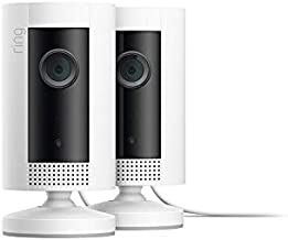 Ring Indoor Cam, Compact Plug-In HD security camera with two-way talk, White, Works with Alexa – 2-Pack