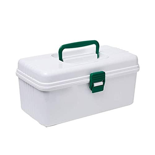 QIXIAOCYB Caja de Almacenamiento Kit de Primeros Auxilios Portátil Mini Medicina Caja de plástico Caja de Almacenamiento de Medicina común