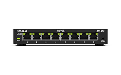 NETGEAR 8-Port Gigabit Ethernet Smart Managed Plus Network Switch (GS308E)