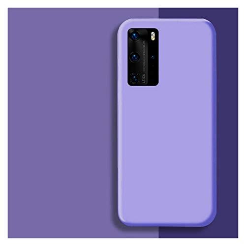 Protector de pantalla de silicona líquida original para Huawei P30 P20 P40 Mate 20 30 Honor 20 Lite Pro P Smart 2019 Funda protectora suave de lujo (color: morado, tamaño: para Honor 10 Lite)