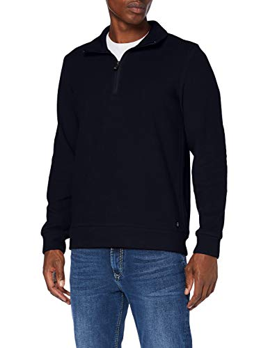 Pierre Cardin Herren Sweat-Shirt Brushed Rib Sweatshirt, Marine, M