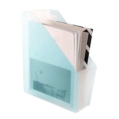 Hogar Revisteros decorativos Carpeta de órganos verticales, bolsa de archivos de acordeón de múltiples capas, caja de almacenamiento de libros de información transparente, bolsa de almacenamiento de a