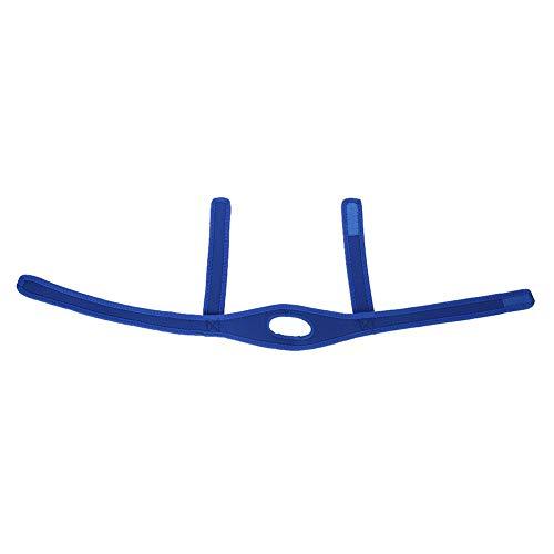 Dispositivo antirronco, dispositivo universal de redução de ronco, elástico leve para ronco, feminino, masculino, deslocamento do queixo (azul)