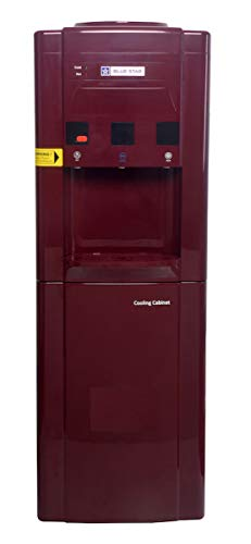 Blue Star Stainless Steel and ABS plastic Water Dispenser with 14 L Refrigerator (Maroon)
