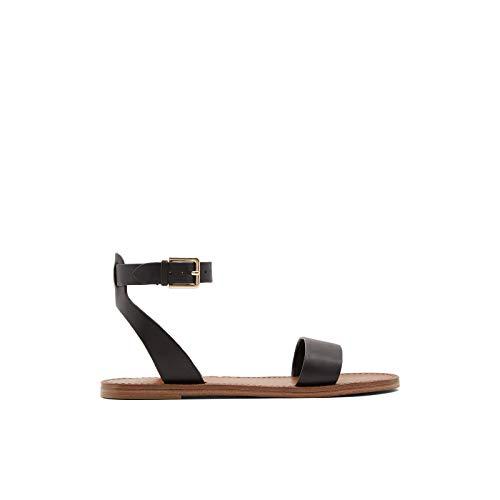 ALDO Damen Flache Sandale, schwarz, 40 EU