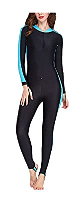 Women Wetsuits with Bra Pad Full Body Swimsuit Dive Skin Uv Protection Surfing Suit