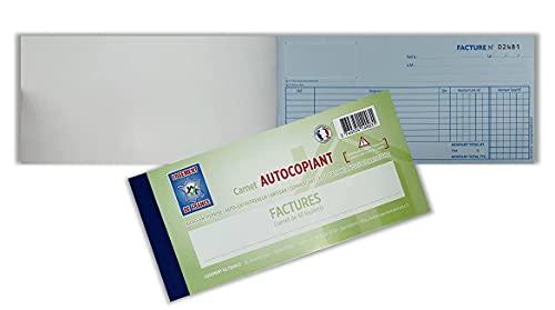 Autocopiant carnet de factures pour micro-entreprise/auto-entrepreneur/artisan/commerçant/association/bailleur/particulier souche détachable 40 feuillets
