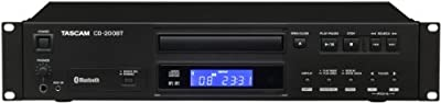 Tascam CD-200Bt CD Player with Bluetooth Receiver, Black