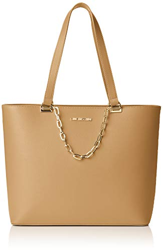 Love Moschino Damen Borsa Smooth Pu Handtasche, Beige (Naturale), 12x27x40 Centimeters