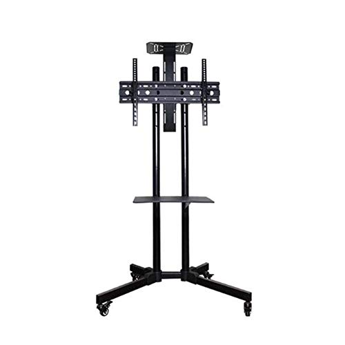 TV Stand For 32 – 65 TV Screens -Screen Station Table Top TV Pedestal Bracket With Tilt Swivel – With Wheel
