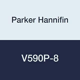 Parker Hannifin V590P-8 Brass Industrial Ball Valve, PTFE Seal, 90 Degree Valve, 1/2