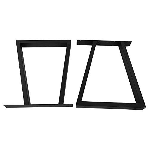 2 Stück Trapez Tischgestell, Metallbeine für Möbel Pulverbeschichtet Tischkufen Tischbein Tischuntergestell für Beistelltische Sofas Schränke und Kaffeetische 720 x 600 mm