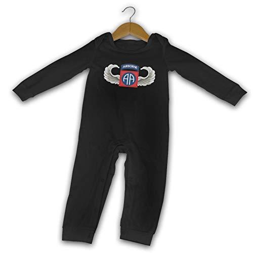 Us Army 82nd Airborne Jump Wings Verano Manga Larga Niñas Niños Bebé Mameluco de Algodón Recién Nacido Mono Bebé Pijama